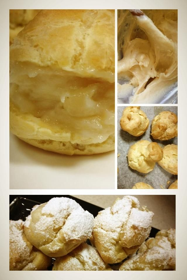Gluten free Choux à la crème / Cream puffs..  Delicately crisp on the outside and so creamy in the middle. They melt in your mouth.  https://www.facebook.com/GlutenFreeLebanon
