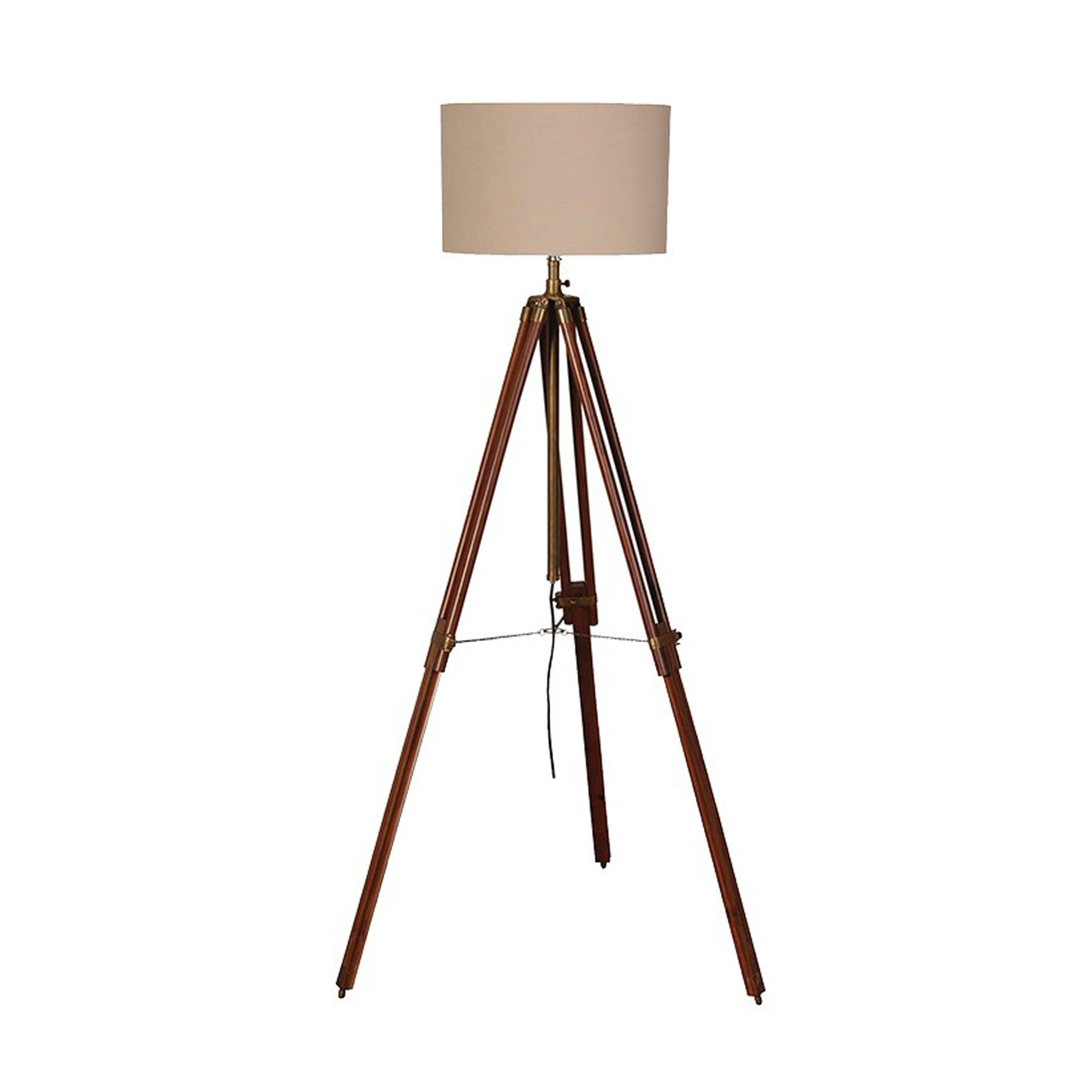 Dark Wood And Brass Tripod Lamp (With images) Brass