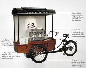 Espresso Mobil Coffee Shop Lastenfahrrad Und Verkaufswagen