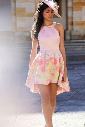 Vestido coctel flores