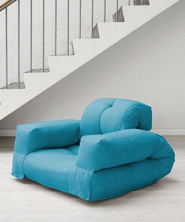 Horizon Blue Hippo Convertible Futon Chair Zulilyfinds