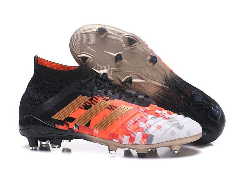Football Shoes. Cleats. Botas De Futbol Adidas Predator Telstar 18.1 FG -  Negro Cobre Gris Adidas Soccer 2040d68fb1089