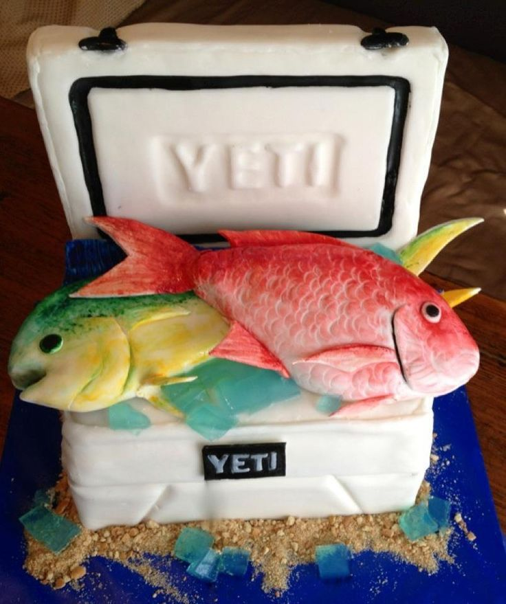 Grooms Wedding Cake Ideas: Fish In A Yeti Cooler Grooms Cake