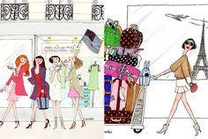 As ilustrações parisienses de Kanako Kuno | Just Lia