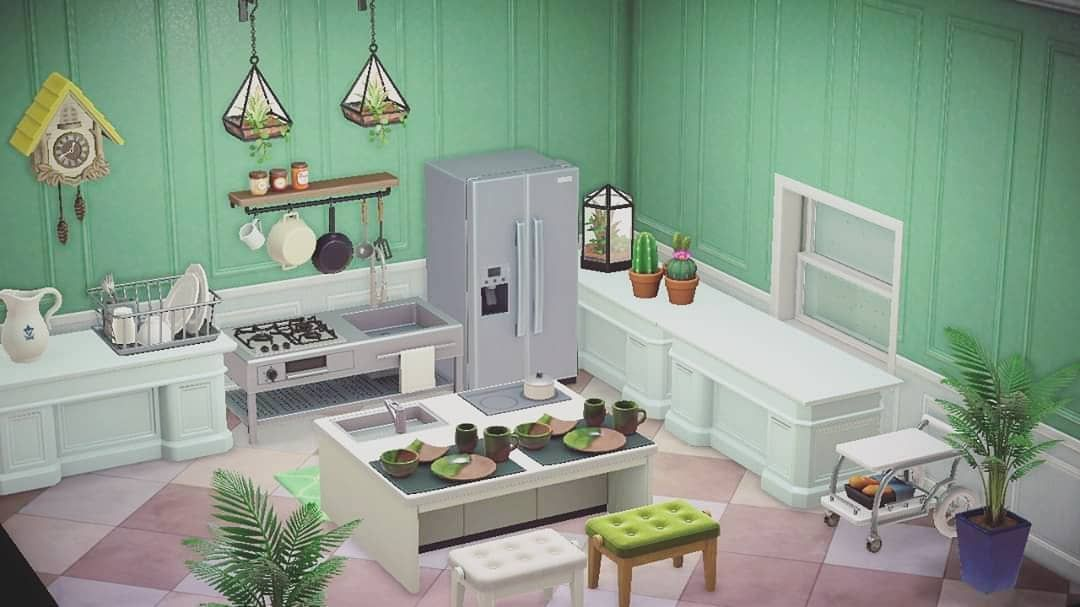 Kristian Kenneth On Instagram Tired Of Looking At Ironwood Kitchen On Acnh Finally Here S Something Different Design Animal Crossing Game Animal Crossing