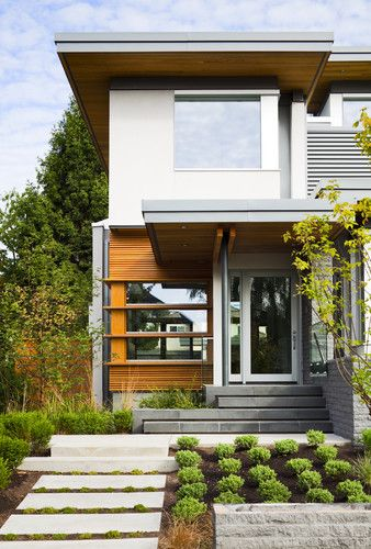 Modern Exterior Front Porch Design Pictures Remodel Decor And