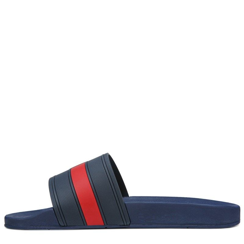 3b263d6c70a1 Tommy Hilfiger Men s Ernst Slide Sandals (Blue White Red)