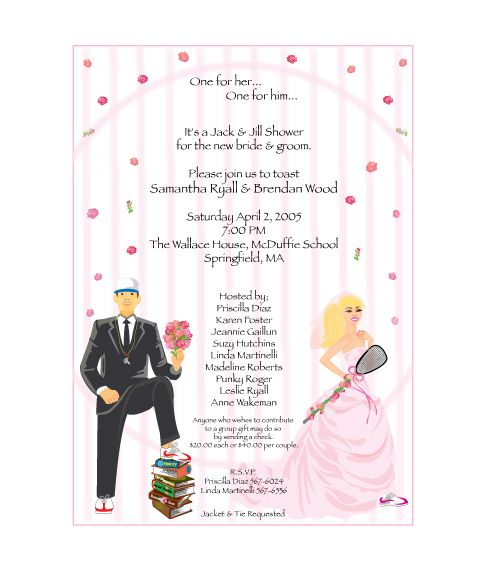 Jack And Jill Shower Invitations History Teaching Soccer Coach Marries