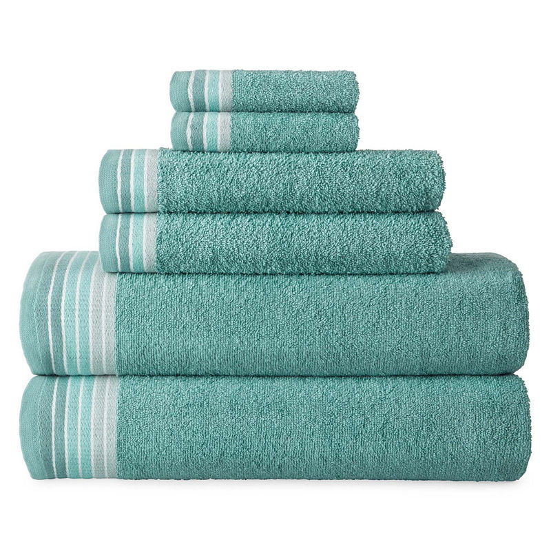 Home Expressions Ombre Stripe Bath Towels Striped Bath Towels