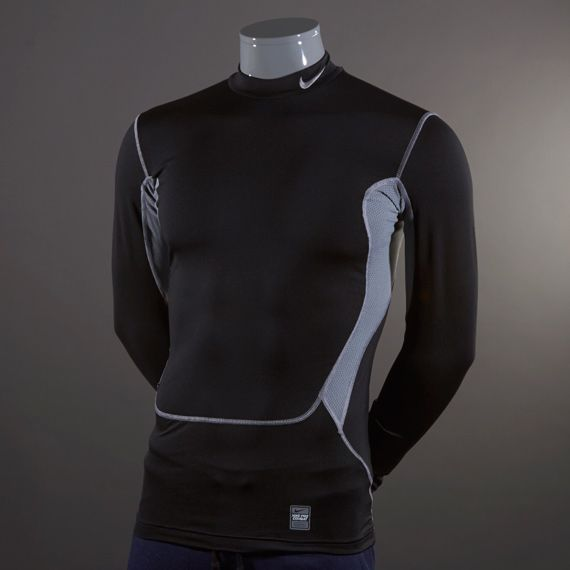Nike Baselayer - Nike Hyperwarm Dri-Fit Max Compression Mock - Baselayer  Clothing - Black
