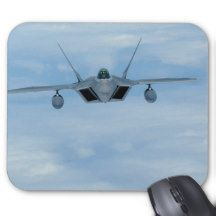 Military Raptor 2 Jet F-22 Mouse Pad