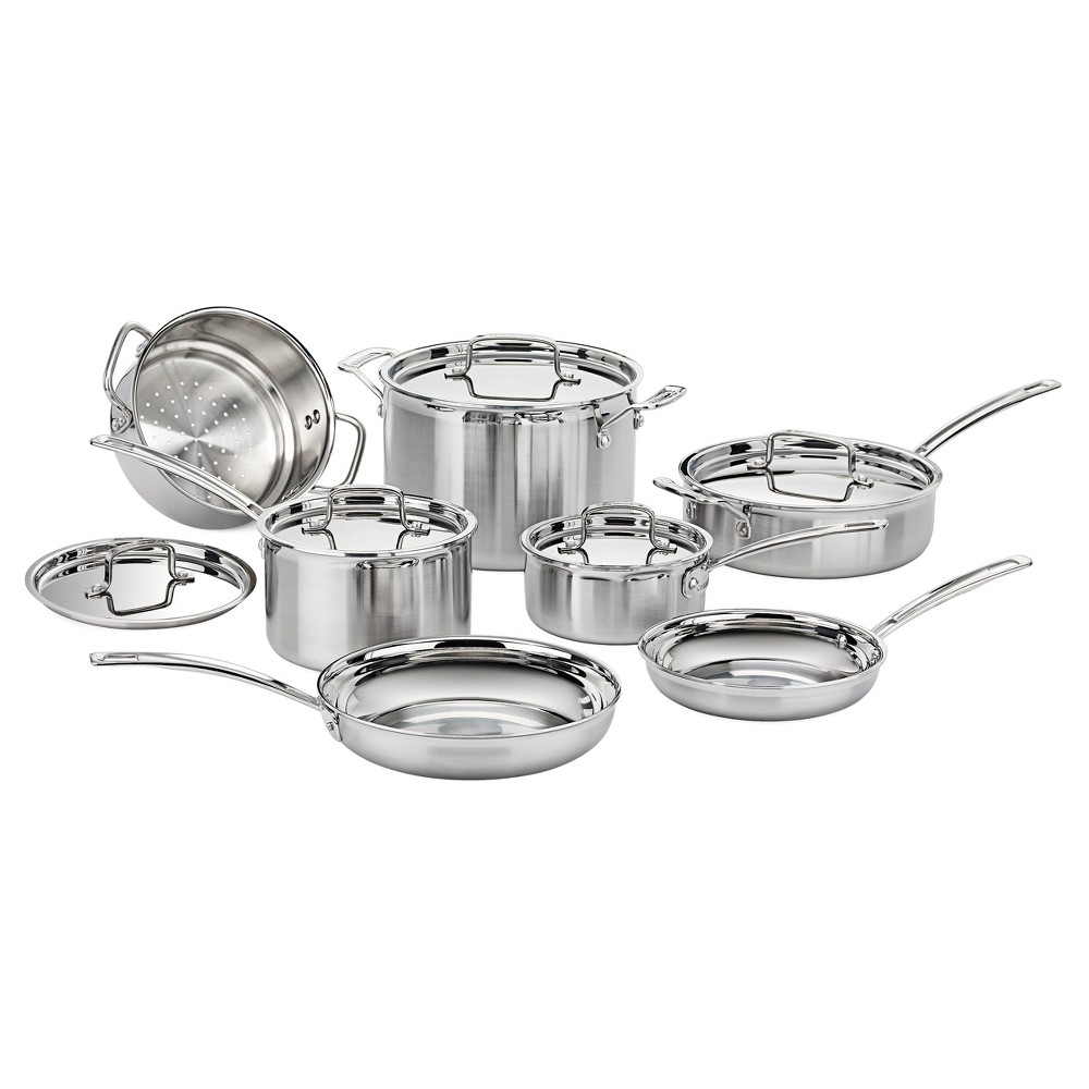 Cuisinart Multiclad Pro Triple Ply Stainless Steel 12 Piece Cookware ...