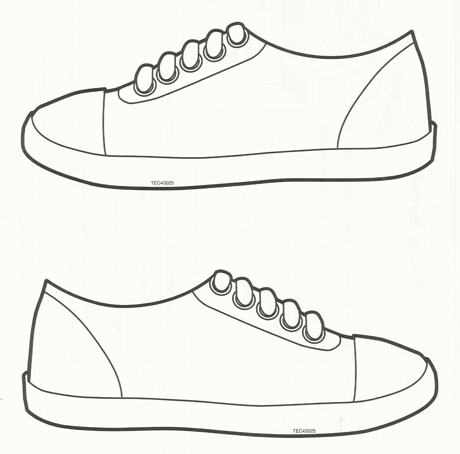 Gallery For gt Tennis Shoe Template To Color