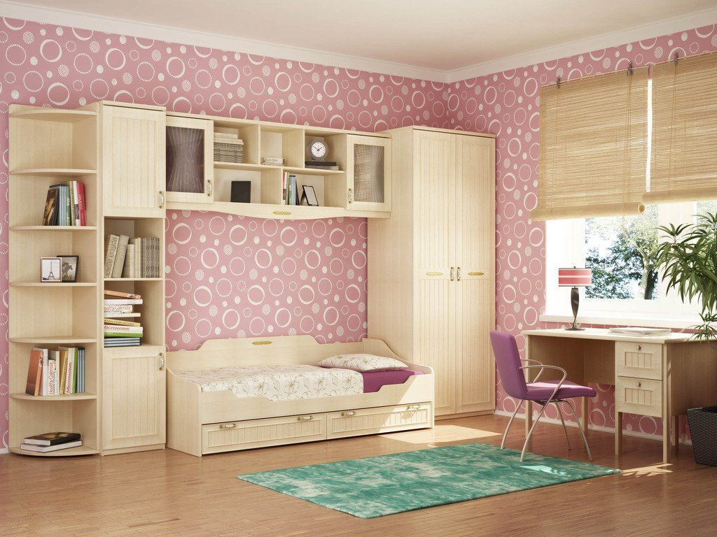 Dormitorio Joven Colores Rosa Salmon Espacioso Habitaci N Para  ~ Como Decorar Una Habitacion Juvenil Pequeña