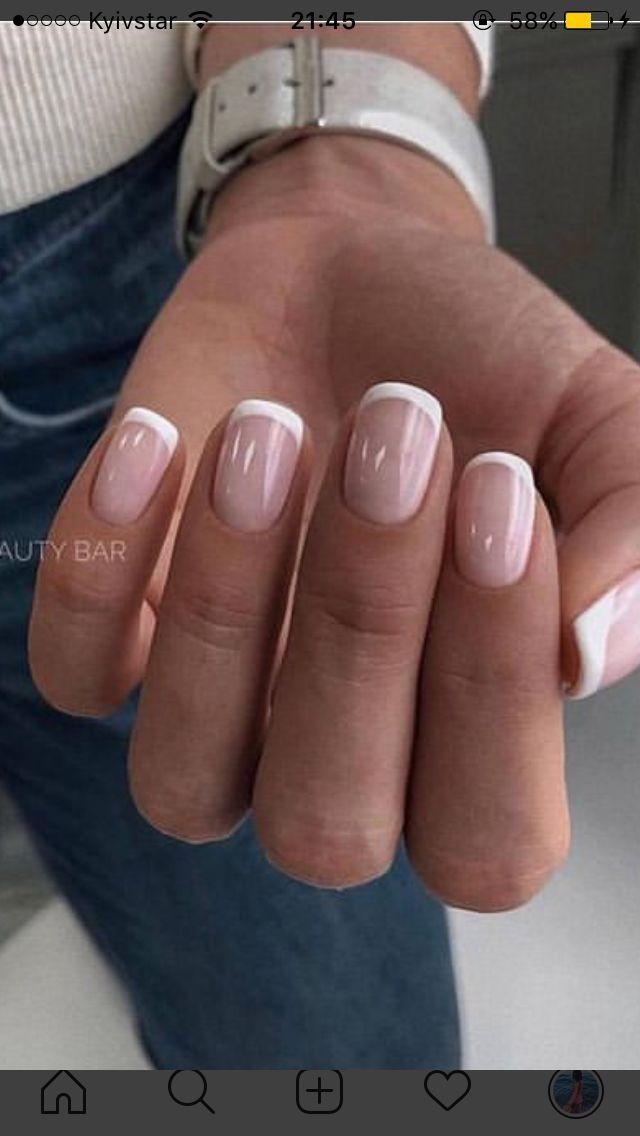 Нарощенные ногти френч - 110 фото 17 видеоуроков | 1136x640