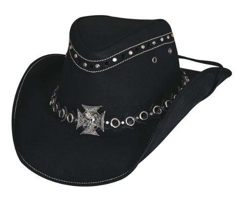 9ba50e6589408 Bullhide Montecarlo Forever Free Top Grain Leather Cowboy Western Hat w  Maltese Cross and Studs xLarge     Be sure to check out this awesome  product.