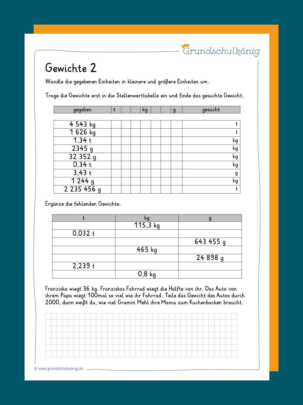 Gewichte   Lernen tipps schule, Mathematikunterricht, Mathematik ...