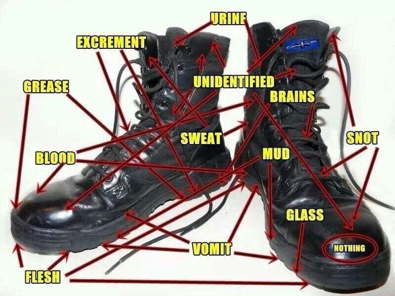 Things Correction Officers Have On Boots Correctional Officer Humor Ems Boots Ems Humor