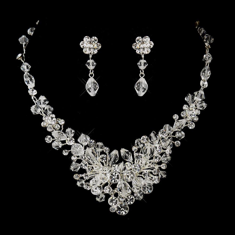 Glamorous Wedding Tiara and Crystal Jewelry Set Weddings