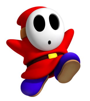 Shy Guy Stares Out From Behind His Mask His Gaze Revealing The Hidden Weaknesses Of His Opponents He Is Pl Mario Bros Party Mario Kart Characters Super Mario