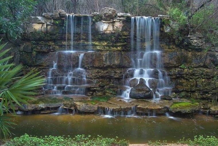 Cascadas y cataratas en el jard n 63 ideas refrescantes for Diseno de fuente de jardin al aire libre