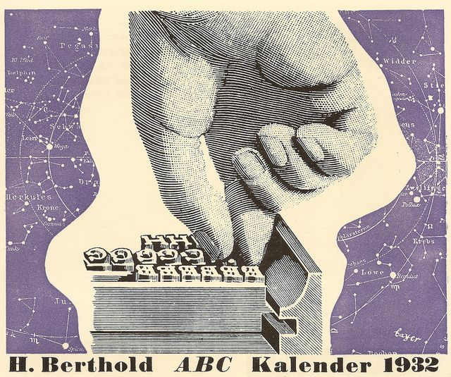 1932 calender kalender cover issued by h berthold ag designed by herbert bayer
