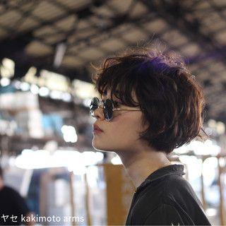 パーマ マッシュ ストリート ウェットヘア×Nove Lina×hayase (ヨシモトハヤセ)×1