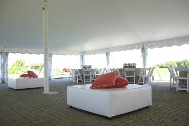 Cocktail Reception Wedding At White Cliffs In Plymouth, MA Rented Lounge  Furniture Brings Your Cocktail