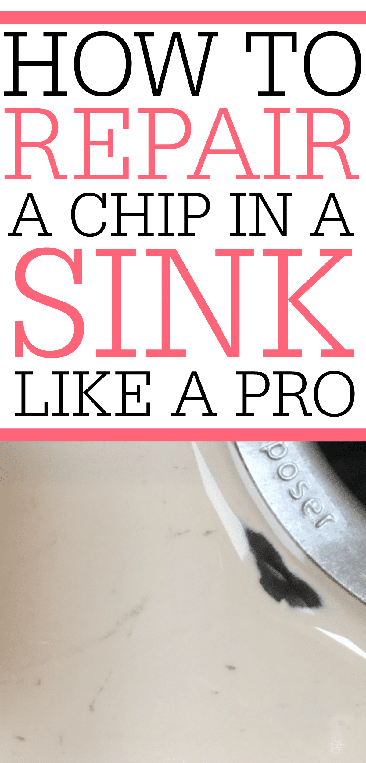 How To Fix A Chip In A Porcelain Sink | Porcelain sink ...