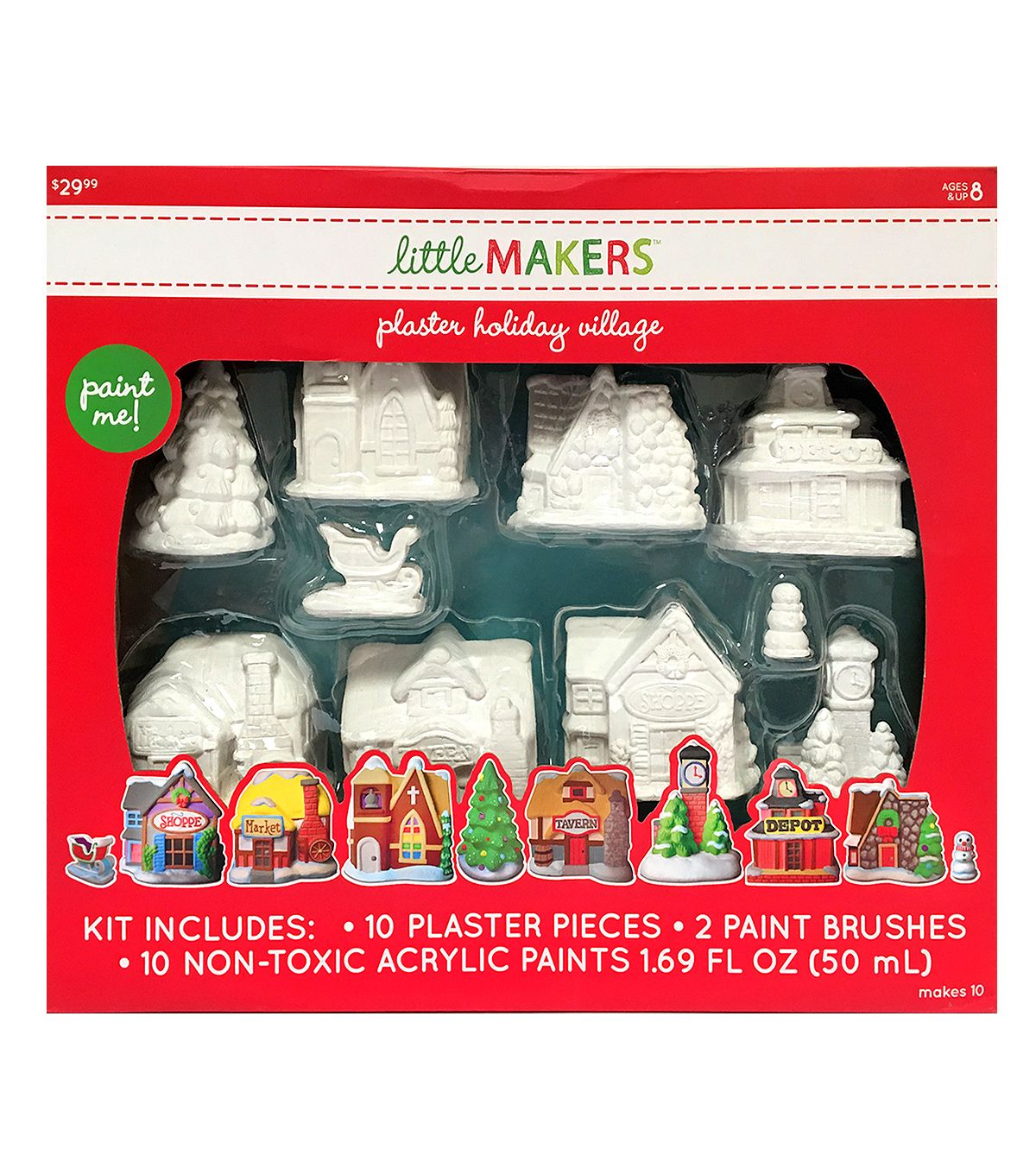 Little Maker U0027s Plaster Kit Holiday Village Diy Plaster Holiday Village A Christmas Story