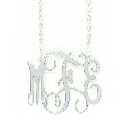 Sterling Silver Medium Filigree Necklace