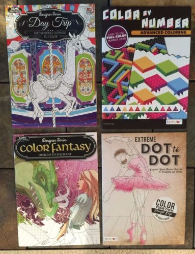 Lot Of 4 Brand New High Quality Adult Coloring Books 1 Travel Outdoors