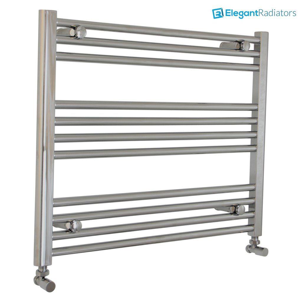 600 mm High Flat 1100 mm Wide White Heated Towel Rail Radiator Bathroom Kitchen