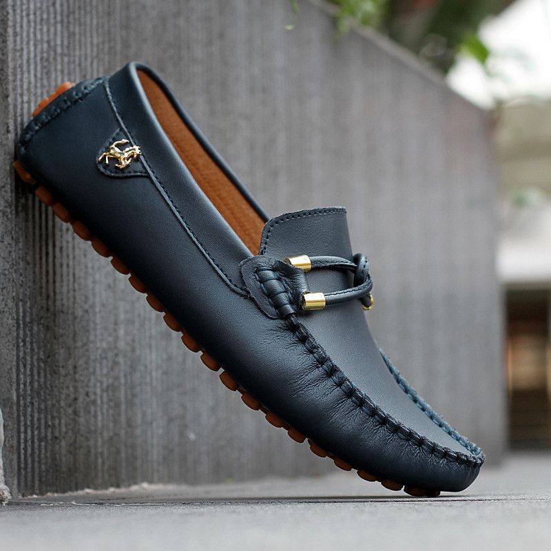 2015 Sale black genuine leather loafers mens fashion boat shoes fashion brown  male sneakers casual solid