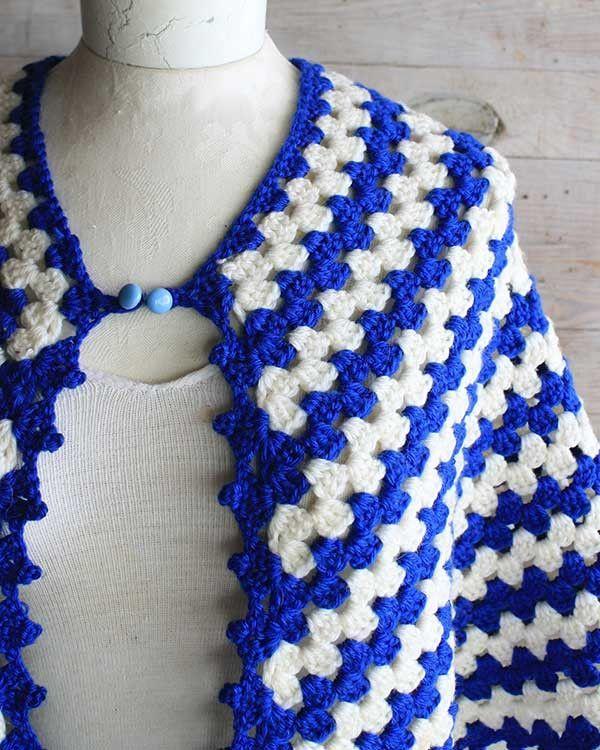 Vintage Granny Rows Capelet Crochet Pattern | Chal, Capilla y Ponchos