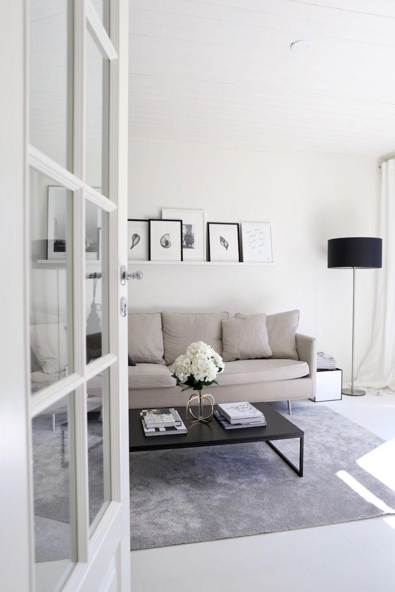 Homevialaura, olohuone, sisustus, tauluhylly, tauluseinä, Ikea ...