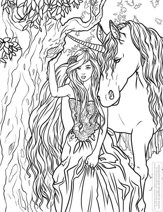 Selina Fenech Unicorn Fantasy Myth Mythical Mystical Legend Licorne Enchantment Coloring Pages