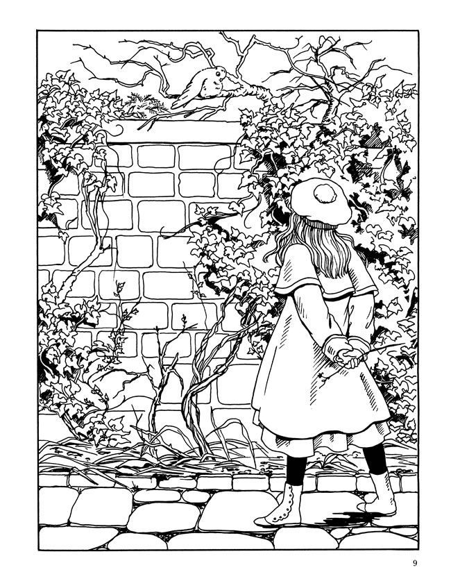 The Secret Garden Colouring Book Sample Pages Dover Publications