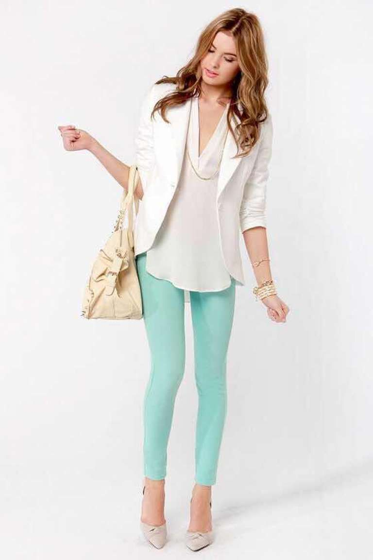 a09c8172d Aprende a Combinar el Color Verde Menta en tus Outfits   paquita ...
