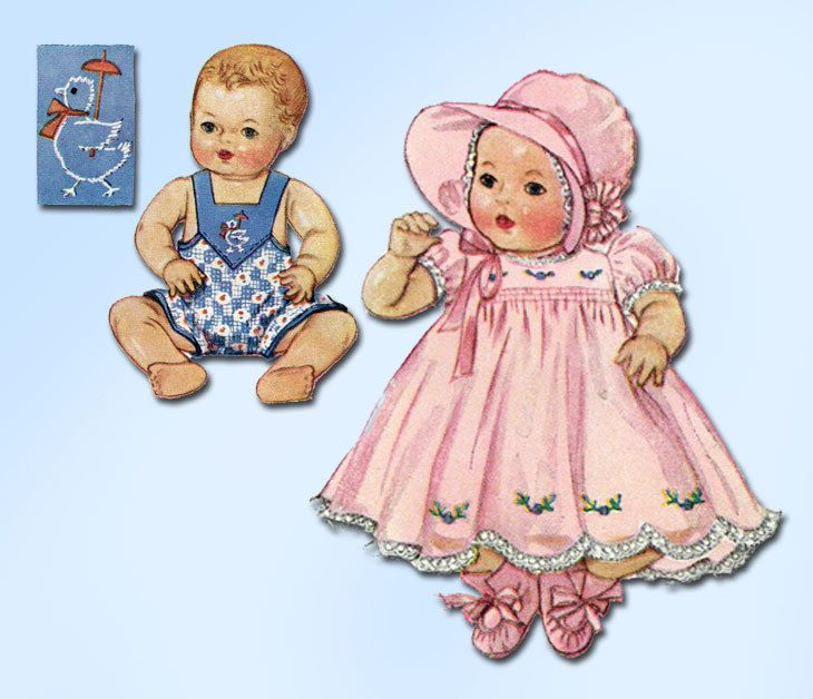 1930s Vintage McCall Sewing Pattern 513 Rare 15 In Dy-Dee Baby Doll ...