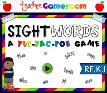 """Engage students with this fun, interactive ELA game. In this tic-tac-toe powerpoint game, students read the sight word and place their """"X"""" or """"O"""". There are 3 boards, each with a different set of words. There are eight (8) words and a free space per word."""