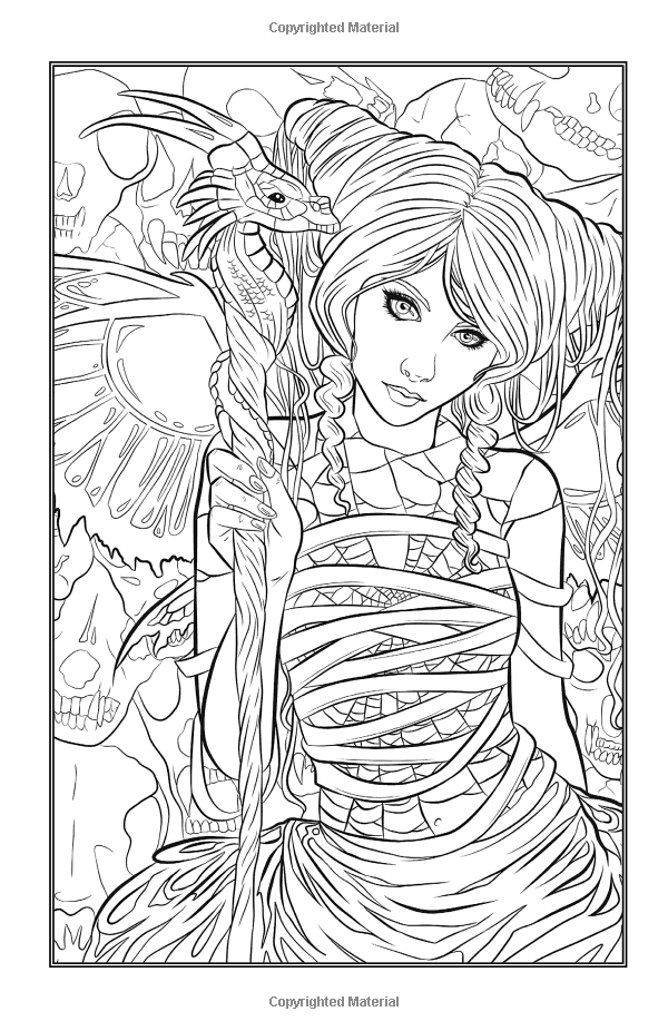 Gothic Minis - Pocket Sized Dark Fantasy Art Coloring Book: Selina  Fairy Coloring Pages, Detailed Coloring Pages, Fairy Coloring
