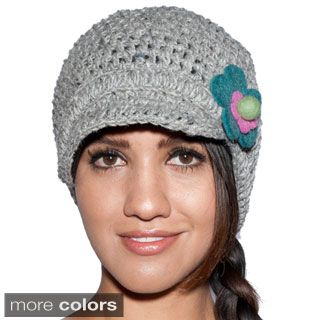 51c2f791a Sunny Daisy Hand-knit Women's Woolen Newsboy Hat (Nepal) | WINTER ...