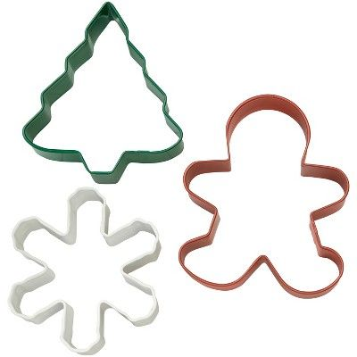 3pk Holiday Cookie Cutters - Wilton, Multi-Colored in 2018