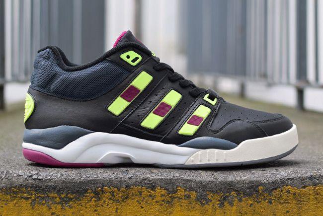 d01afce57 adidas Originals Torsion Court Strategy Mid  Black Lime