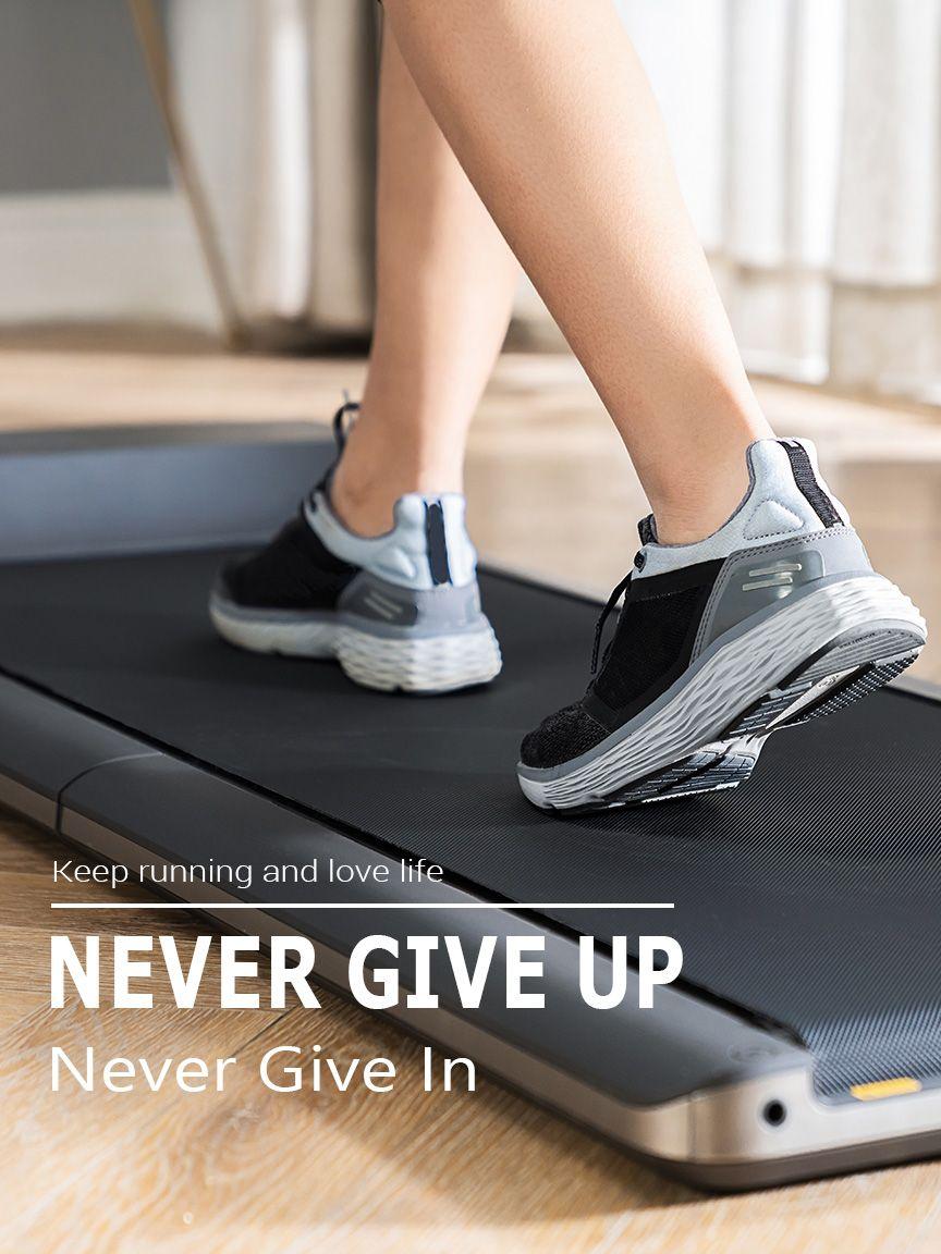 A1 foldable under desk walking treadmill Running on