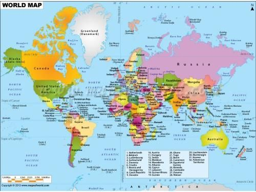 Buy printed wall map online with paper and laminated format print buy printed wall map online with paper and laminated format gumiabroncs Gallery