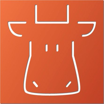 Click Image Above To Purchase: Animal Wall Decor - Orange - Cow