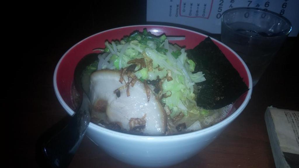 @naruminaru3  今週の一杯、ラーメン道JAPANさんの男前ラーメン(野菜まし) 豚骨と魚介がマッチした一杯です