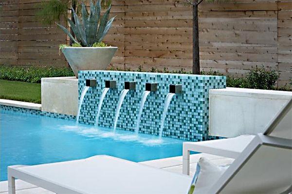 Modern Pool Water Features 3 Rectangle Pool Inground